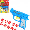 wholesale Toys: Pistol 12cm with 10 shots on map