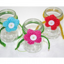 groothandel Home & Living: Glaswol bloemen versierde 9,5x8x7cm