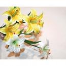 hurtownia Mieszkanie & Dekoracje: Lilie Bukiet  kwiatów z 3 głowicami 70cm