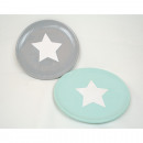 Ceramic plate with large white star