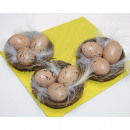 Nests with eggs and feathers Set of 4
