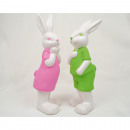 Hase XL 15x4,5cm with trend-colored clothing