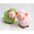 Schaf mit Kuschelfell 8x7x5cm