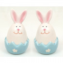 Bunny with egg shell, 3 great colors