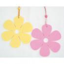 groothandel Woondecoratie: Hanger Filzblume  Set van 2, gesorteerd