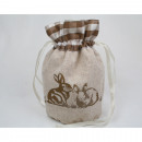 Linen fabric base compartment 20x11cm, very valuab