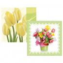 mayorista Casa y cocina: 33x33cm 20er  Servietten tulipanes 3 capas