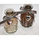grossiste Pots de fleurs & Vases: vase Trendy avec  ruban de soie 10x5,5cm