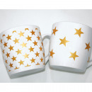 Coffee mug with gold stars