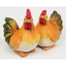 groothandel Figuren & beelden: Grote haan en kip, 2fach sorteren.,