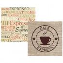 Napkins 33x33cm 20er Coffee design,
