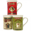Sorted coffee cup antique motifs, 4-fold
