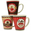 Coffee cup Checker + Stripes Design