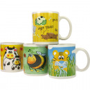 Coffee mug animal motifs 4 assorted