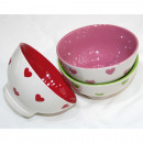 wholesale Houshold & Kitchen: Cereal bowl with heart 13X7,5CM