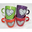 Coffee mug trendy design with heart