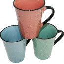 Coffee mug pastel colors 11x 10.5cm