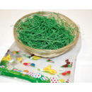 wholesale Organisers & Storage: Osterbastkorb with grass in printed bag
