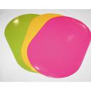 grossiste Linge de table: Napperon 44x28,5cm  ovale de belles couleurs