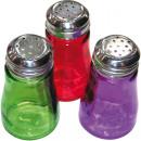 grossiste Lunettes:Salière en verre coloré