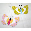 wholesale Garden & DIY store: Butterfly made of  wood with metal detectors
