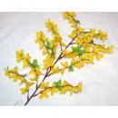 grossiste Fleurs artificielles: Forsythia brousse avec 72 têtes, 65cm