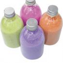 Großhandel Dekoration: Dekosand 350g in Klarsichtflasche