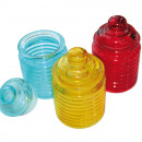 grossiste Verres: Vorratsglas XL 12x7cm, verre coloré