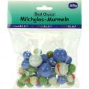 grossiste Lunettes: Marbles verre de  lait par couleur 300g