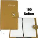 grossiste Cadeaux et papeterie: Notebook DIN A6 doublé en faux cuir