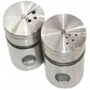 wholesale Kitchen Utensils: Spice shaker glass  and stainless steel 6x5x5cm,