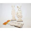 groothandel Figuren & beelden:Konijn houten XL 23cm