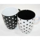 Koffie met punten 200ml, 8,5 x 7 cm,