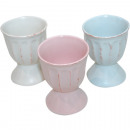 wholesale Crockery: Eggcup  country-style, 3 great colors