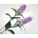 Lila met twee grote bloemen 80x8cm