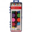 grossiste Bricoler et dessiner: boîte de couleur  de l'eau 12 XL couleur et une