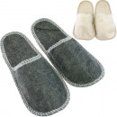 groothandel Schoenen: Vilt slippers,  maten 36- 38/40 -43, kleuren sorter