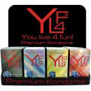 Condoms YL4F Premium, 12er Box, 4 times sort.