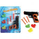 wholesale Toys: Gun with three  soft arrows u. 3 Ducks on map