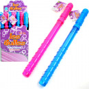 wholesale Toys: Bubble wand 37cm  130ml 2 Farb.sort. in Disp.