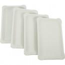 Parti assiette 10  cm 13x20 soudées blanc