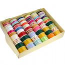 Großhandel Geschenkartikel & Papeterie: Geschenkband 66er  Display in Sommerfarben