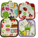 wholesale Kitchen Utensils: Potholders 17x17 cm Full year motifs