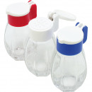 wholesale Garden & DIY store: Salt and spice  shaker with lid, made of glass