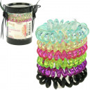 Hair accessories plait rings 6 spiral sort.Farb. 4