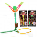 LED-propeller  16cm, inclusief rubber band launcher