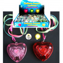 Halsband neon m.  Light heart 3x sort.iD