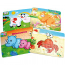 wholesale Puzzle: Animal Puzzle 49  pieces 4 times sort. 26x19cm