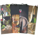 Gift bag polish bottle wine motif