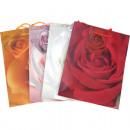 grossiste Emballage cadeau: Sac cadeau Rose motifs moyen